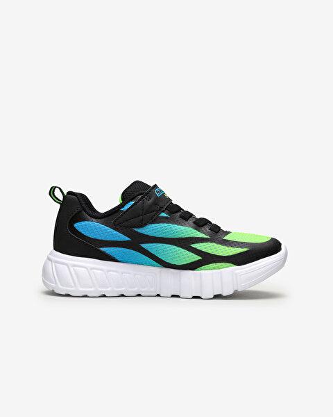 Flex-Glow-Dezlo Büyük Erkek Çocuk Siyah Spor Ayakkabı-1